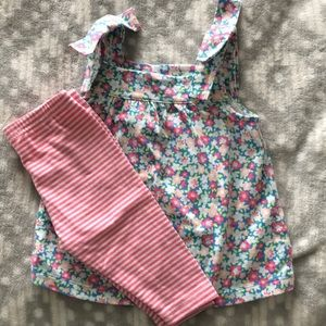 NWOT Carter's 12 Month Floral Outfit